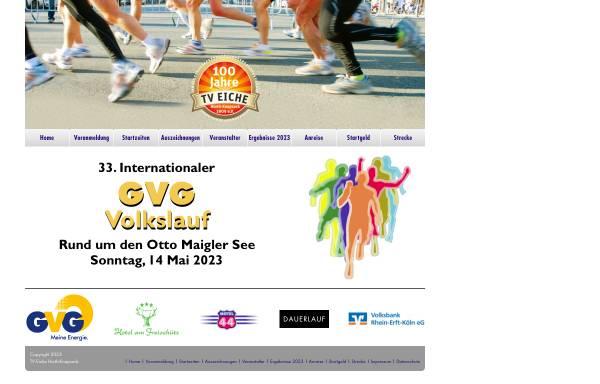 Vorschau von www.volkslauf-huerth.de, Veranstaltungseite des Volkslaufes in Hürth