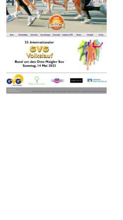 Vorschau der mobilen Webseite www.volkslauf-huerth.de, Veranstaltungseite des Volkslaufes in Hürth