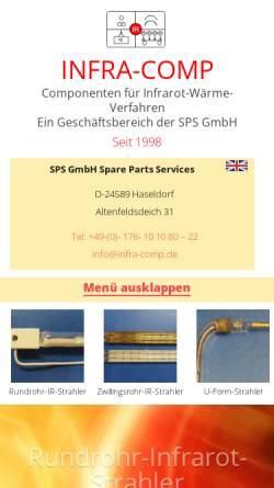 Vorschau der mobilen Webseite infra-comp.de, Infra Comp