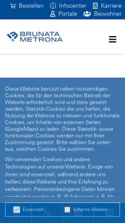 Vorschau der mobilen Webseite www.brunata-huerth.de, Brunata Hürth Niederlassung