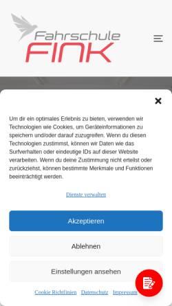 Vorschau der mobilen Webseite www.fahrschule-dfink.de, Fahrschule Fink