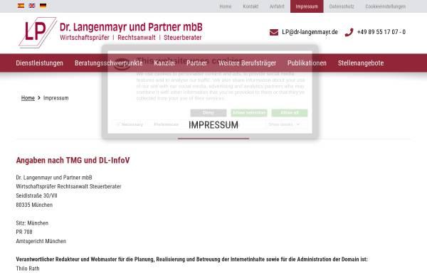 Vorschau von www.dr-langenmayr.de, Steuerberater Langenmayr München