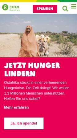 Vorschau der mobilen Webseite www.oxfam.de, Oxfam -Deutschland e.V.
