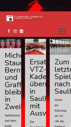 Vorschau der mobilen Webseite www.vtz-saarpfalz.de, VT Zweibrücken-Saarpfalz