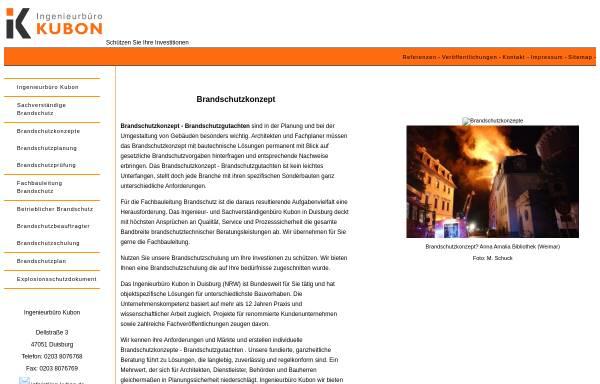 Vorschau von www.ing-kubon.de, Ingenieurbüro Kubon, Inhaberin Dr.-Ing. Christiane Kubon
