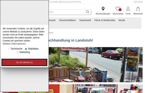 Vorschau von www.alpha-landstuhl.de, ALPHA Buchhandlung Landstuhl