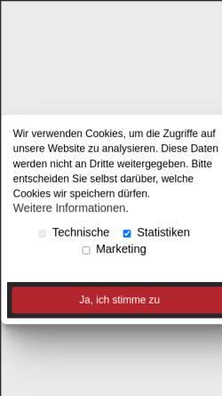 Vorschau der mobilen Webseite www.alpha-landstuhl.de, ALPHA Buchhandlung Landstuhl