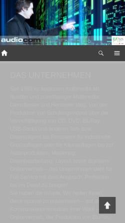 Vorschau der mobilen Webseite www.audiocom.de, audiocom multimedia e.K.