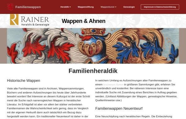 Vorschau von www.heraldikinfo.com, Rainer - Heraldik & Genealogie