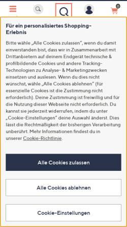 Vorschau der mobilen Webseite www.qvc.de, QVC Handel GmbH