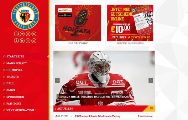 Vorschau von www.esvk.de, Eissportverein Kaufbeuren