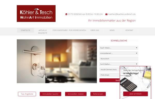 Vorschau von www.koehlerundtesch.de, Köhler & Tesch WohnArt Immobilien GbR