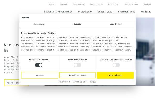 Vorschau von www.haas-schleifmaschinen.de, Haas Schleifmaschinen GmbH