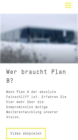 Vorschau der mobilen Webseite www.haas-schleifmaschinen.de, Haas Schleifmaschinen GmbH