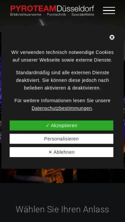 Vorschau der mobilen Webseite www.pyroteam-duesseldorf.de, Pyroteam Düsseldorf GmbH