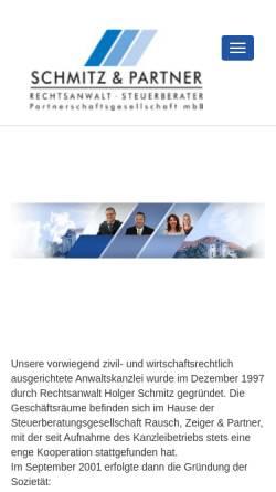 Vorschau der mobilen Webseite www.schmitz-ra.de, Schmitz & Collegen