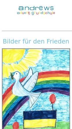Vorschau der mobilen Webseite www.advent-grundschule.de, Andrews Advent-Grundschule Solingen