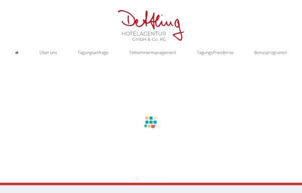 Vorschau von www.hotelagentur-dettling.de, Tagungen-Veranstaltungen Dettling GbR