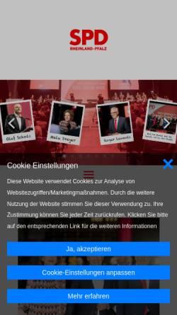 Vorschau der mobilen Webseite www.spd-rlp.de, SPD Rheinland-Pfalz