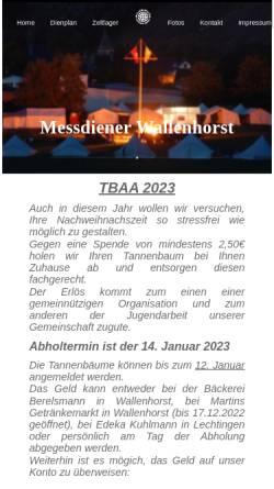 Vorschau der mobilen Webseite www.messdiener-wallenhorst.de, Messdiener St. Alexander, Wallenhorst