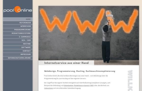 Vorschau von www.pool-online.de, Internetservice und Pressebüro Michael Loy