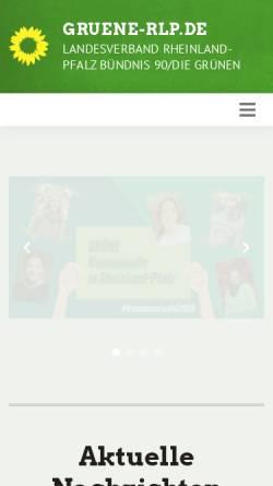 Vorschau der mobilen Webseite www.gruene-rlp.de, Bündnis 90/Die Grünen Rheinland-Pfalz