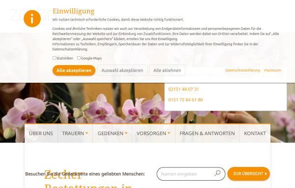 Vorschau von www.bestattungen-zecher.de, Zecher Bestattungen