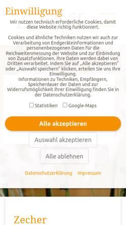 Vorschau der mobilen Webseite www.bestattungen-zecher.de, Zecher Bestattungen