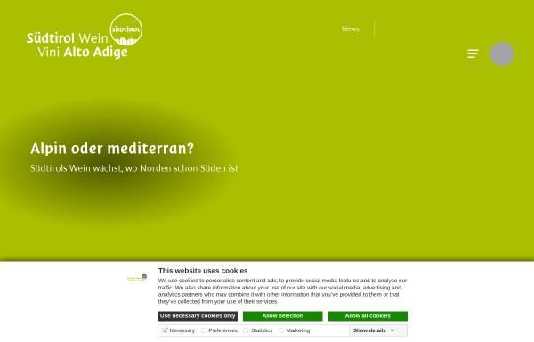 Vorschau von www.suedtirolerwein.com, Südtiroler Wein