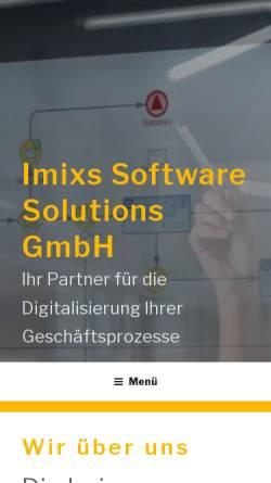 Vorschau der mobilen Webseite www.imixs.com, Imixs Workflow Project