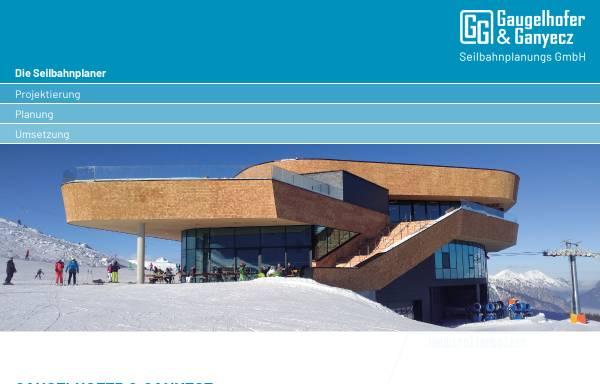 Vorschau von www.seilbahnplanung.at, Gaugelhofer und Ganyecz Seilbahnplanungs GmbH