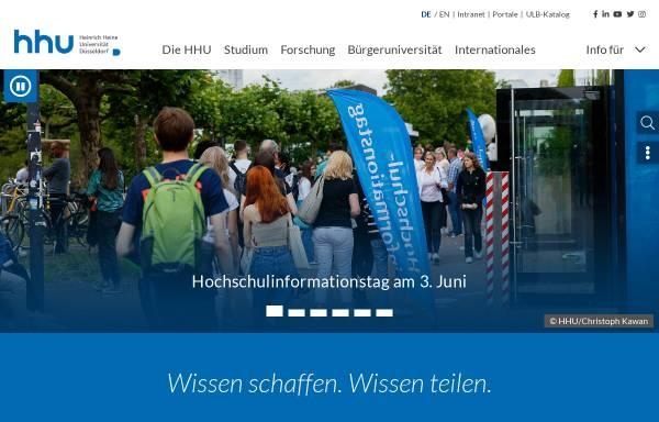 Vorschau von www.uni-duesseldorf.de, Heinrich-Heine-Universität