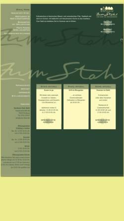 Vorschau der mobilen Webseite zum-stahl.de, Restaurant zum Stahl