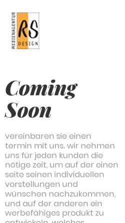 Vorschau der mobilen Webseite www.rsdesign.de, RS Design Medienagentur