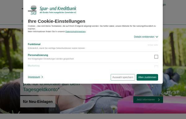 Vorschau von www.skb-witten.de, Spar- und Kreditbank des Bundes Freier evangelischer Gemeinden eG