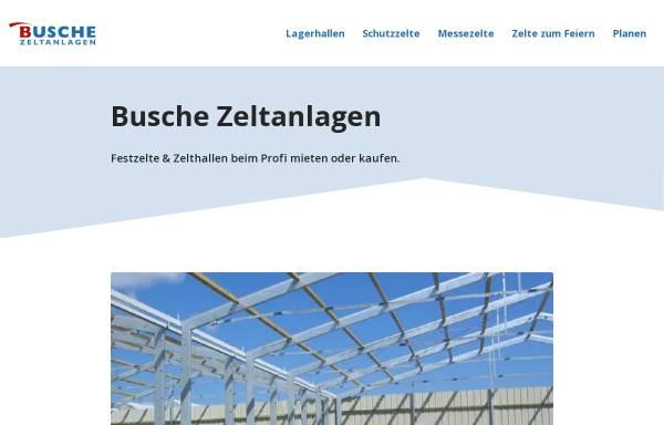 Vorschau von www.busche-zelte.de, Busche Zeltanlagen GmbH & Co.KG