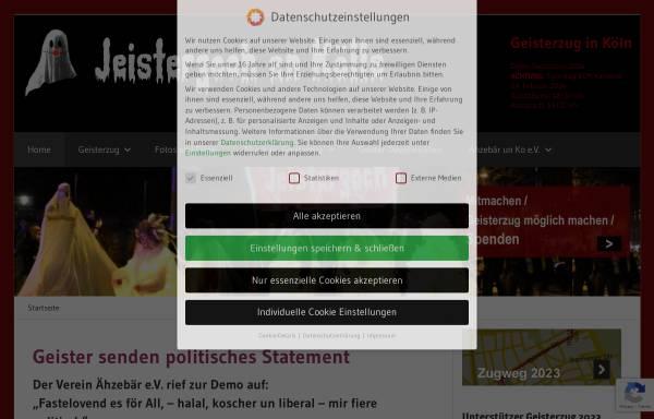 Vorschau von www.geisterzug.de, Der Kölner Geisterzug