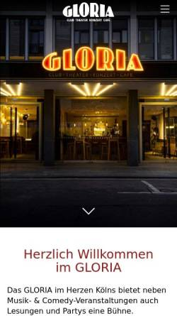 Vorschau der mobilen Webseite www.gloriasitzung.de, Gloria-Sitzung