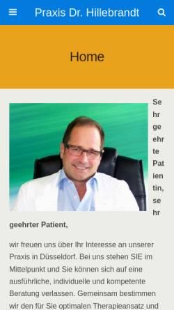 Vorschau der mobilen Webseite www.dr-hillebrandt.de, Hillebrandt, Dr. M.