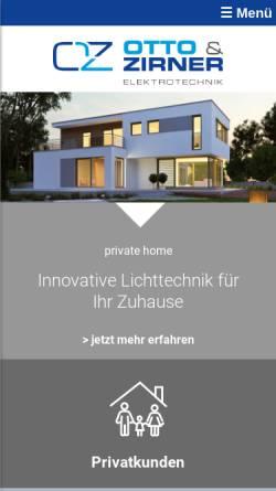 Vorschau der mobilen Webseite www.eloz.de, Elektrotechnik Otto & Zirner GmbH