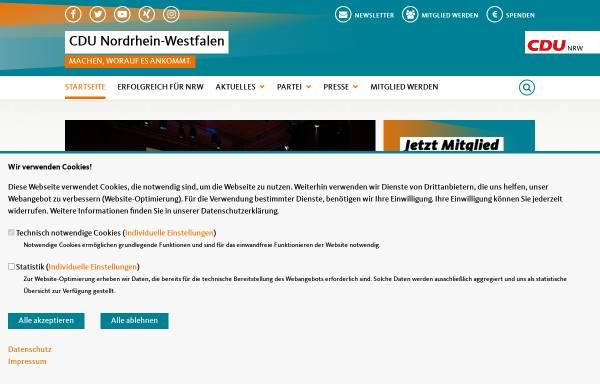 Vorschau von www.cdu-nrw.de, CDU Nordrhein-Westfalen