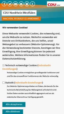 Vorschau der mobilen Webseite www.cdu-nrw.de, CDU Nordrhein-Westfalen