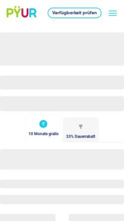 Vorschau der mobilen Webseite www.primacom.de, PrimaCom AG