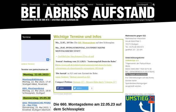 Vorschau von www.bei-abriss-aufstand.de, Bei Abriss Aufstand