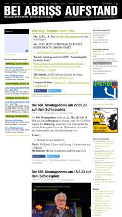 Vorschau der mobilen Webseite www.bei-abriss-aufstand.de, Bei Abriss Aufstand