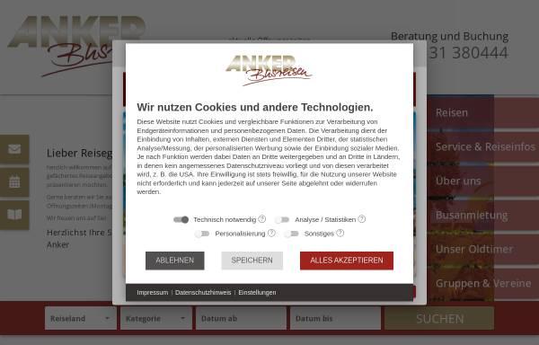 Vorschau von www.anker-busreisen.de, Anker Reisen International GmbH