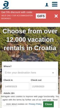 Vorschau der mobilen Webseite www.adriagate.com, Adriagate
