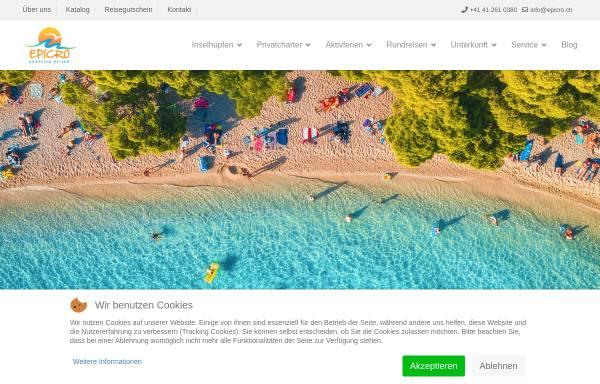 Vorschau von www.epicro.ch, Reisebüro Epicro