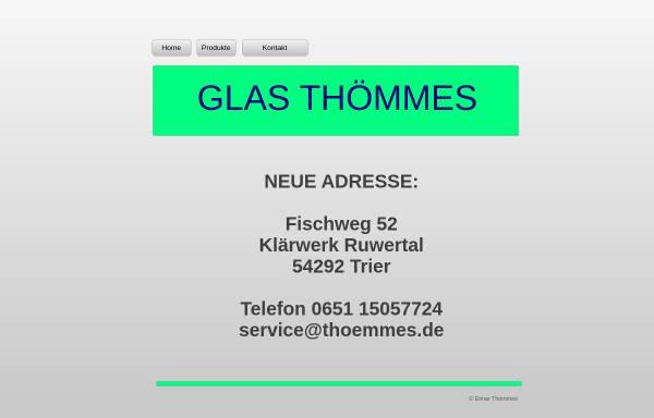 Vorschau von www.thoemmes.de, Glashandel Thömmes