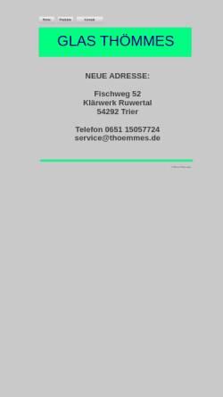 Vorschau der mobilen Webseite www.thoemmes.de, Glashandel Thömmes